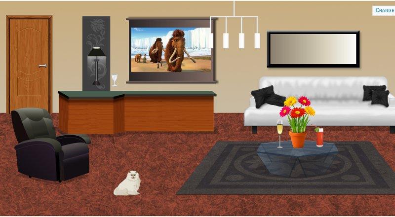décoration salon avec canapé, bar, fauteuils et table basse